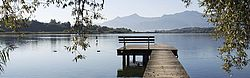 Lake Chiemsee, European Alps, Jetty, Landscapes, Wood