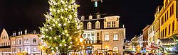 Christmas Market of the mini_ng town Schwarzenberg, located in the Erzgebirge (Saxony)