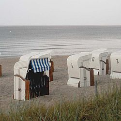 beach, sea, osstsee, strandkorb