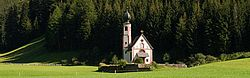 Church of San Giovanni of Santa Maddalena di Funes in South Tirol, Italy