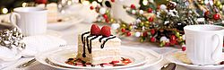 Christmas, Holiday, Dessert, Table, Dinner Party